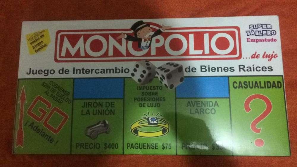 Monopolio Tablero Empastado Nuevo