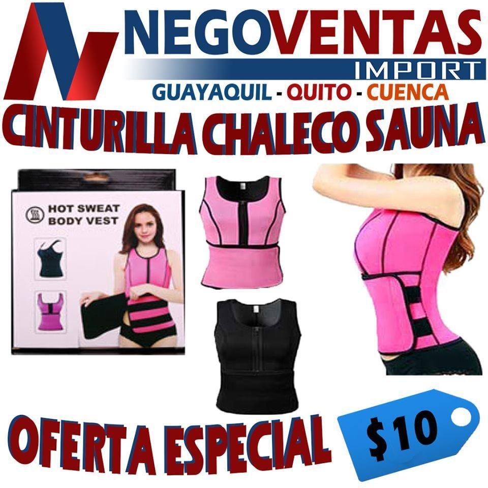 CINTURILLA CHALECO  SAUNA REDUCTORA DE GRASA