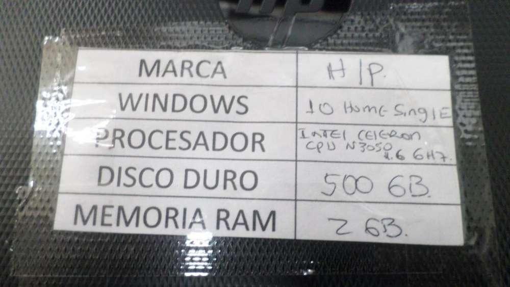 COMPUTADOR PORTATIL H/P INTEL CELERON -N3050,1.6GHZ DISCO 500 GB,RAM 2 GB