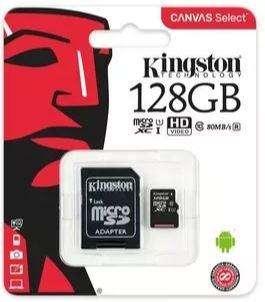 MICRO SD 128GB CLASE 10 KINGSTON
