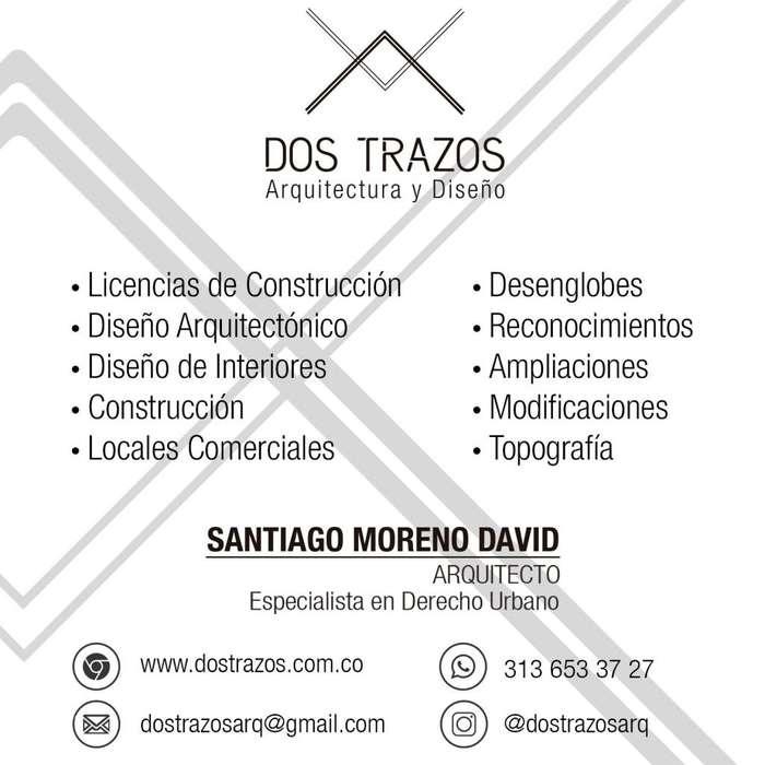 Arquitecto, Diseño Residencial y Comercial, Licencias de Construcción, desenglobes, legalizaciones.