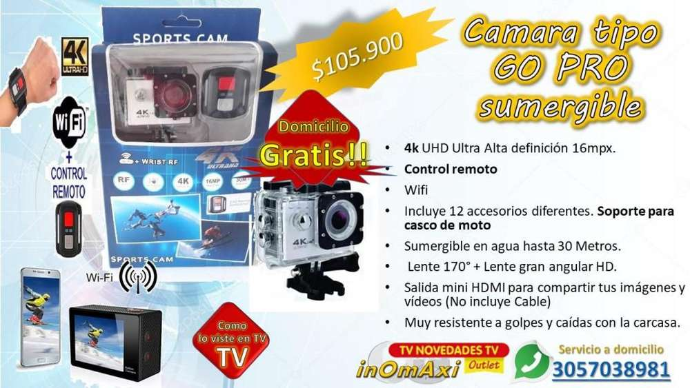Camara tipo GO PRO ANTIAGUA DEPORTES 4K UHD MOTO