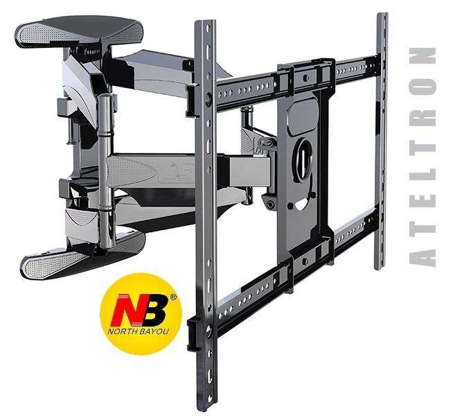 Soporte giratorio de brazo móvil dual para tv de 50 a 75 pulgadas