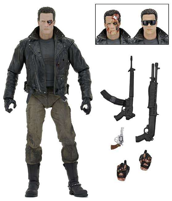 Figura Neca Terminator Ultimate T800 Police Station Assault