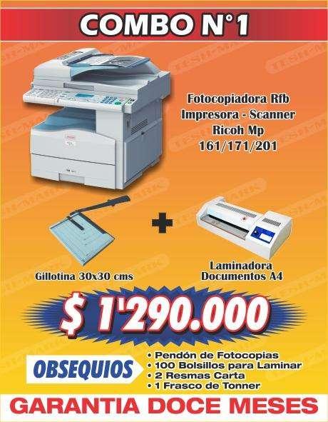 Fotocopiadoras Combos Oficina Multifuncionales Impresora Escáner Computador Laminadora Encuadernadora Y Guillotina