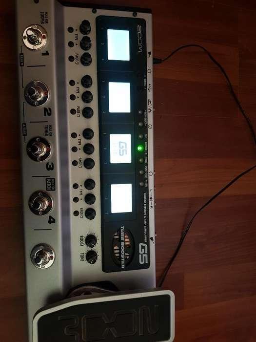 <strong>pedal</strong>era Zoom G5 Amp de Tubo