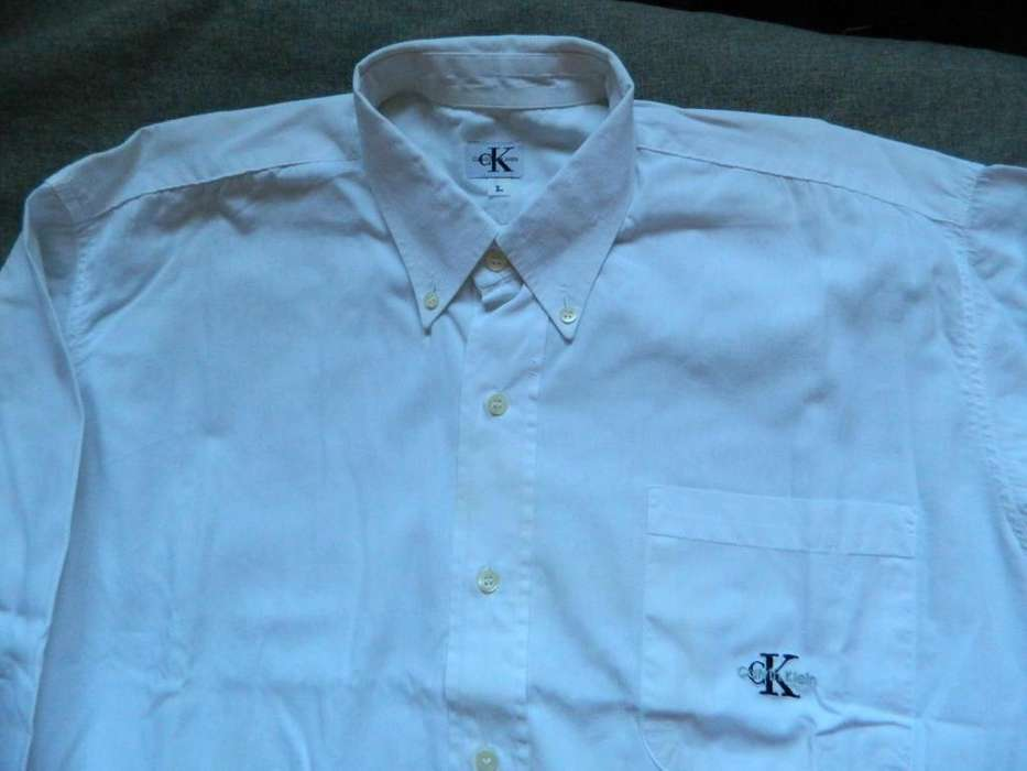 <strong>camisa</strong> Calvin Klein muy buena tela talle 42 Large Slim