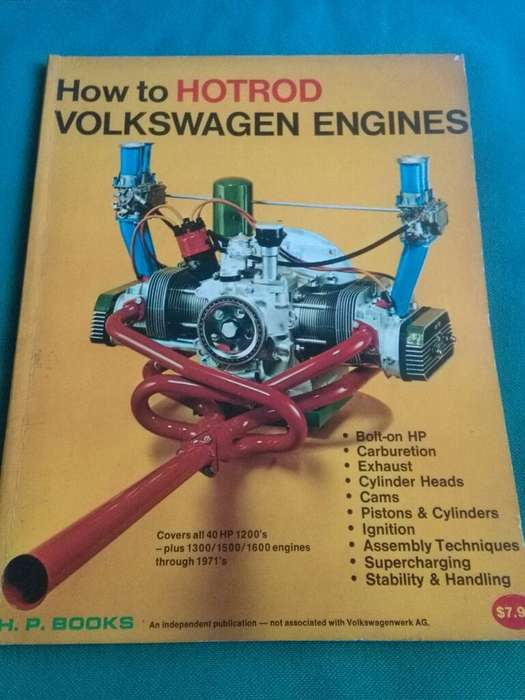 How To Hotrod Volkswagen Engines . Bill Fisher . HP Books USA . Libro Motores