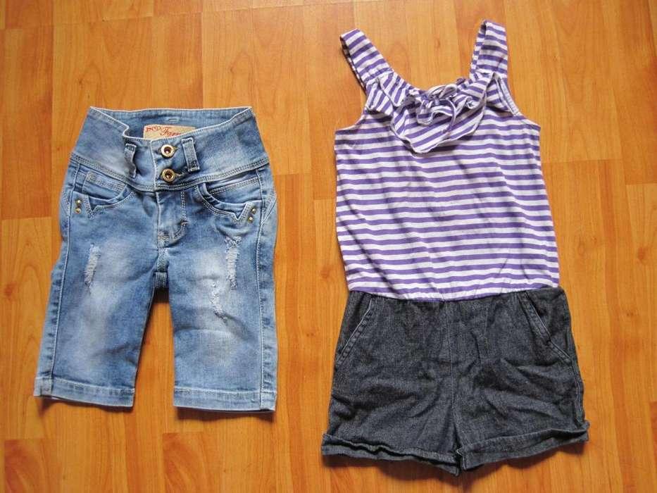 Shorts y romper/ enterizo talla 4 a 6 DESDE S/ 10 soles