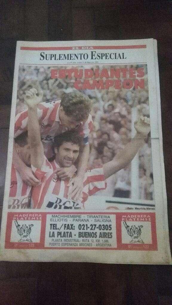 Suple Diario El Dia Estudiantes Campeon Nacional B 1995