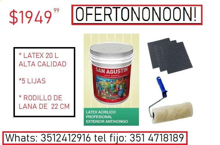 Combo Pintura Latex 351241916. Info en la imágen con envío.