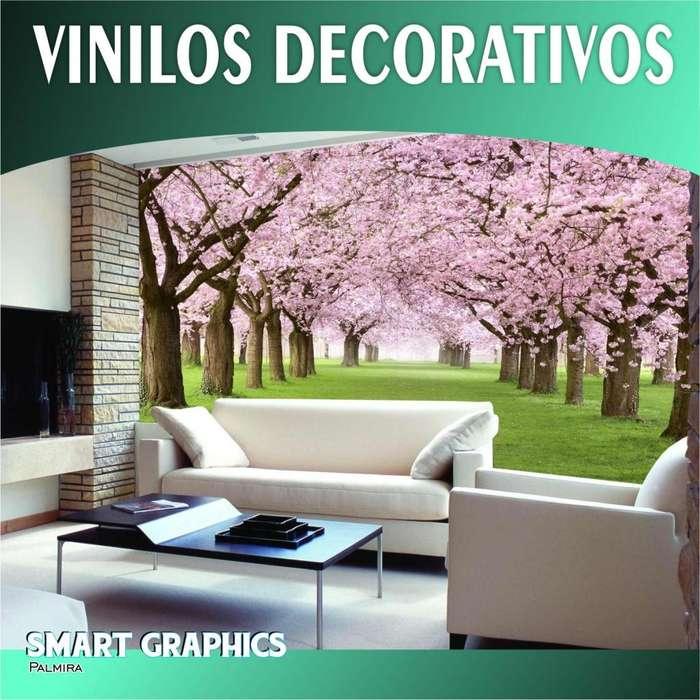 VINILOS DECORATIVOS FOTO MURALES DISEÑO INTERIORES PAREDES GIGANTOGRAFIA PAPEL DE COLGADURA PUBLICIDAD PALMIRA CALI