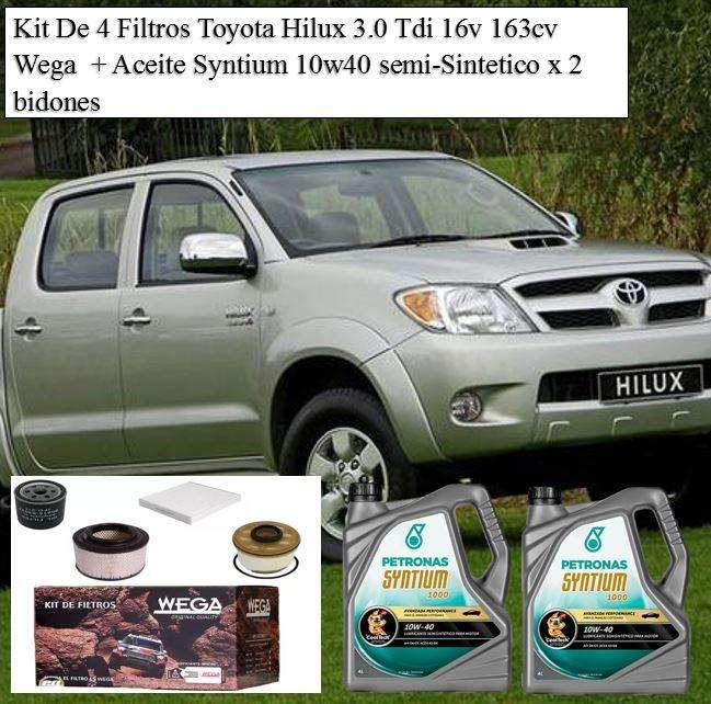 Kit de 4 <strong>filtros</strong> Toyota Hilux