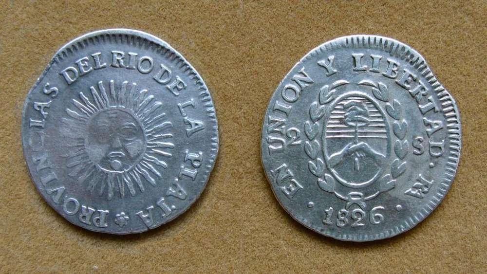 Moneda de 2 soles de plata de La Rioja, Argentina 1826