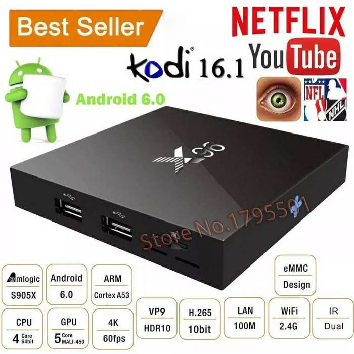 Tv Box Android 6.0, 2 Ram, 16 Gigas, 64 Bit, 4k, Codi Neflix