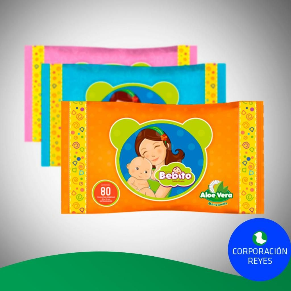 Toallitas húmedas Bebito Pack x80 Unds S/. 90 (Caja x 24 packs)