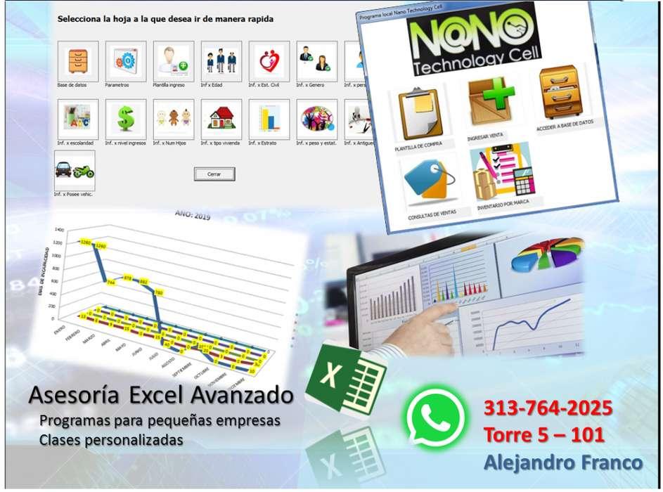 Asesoria especializada en Excel