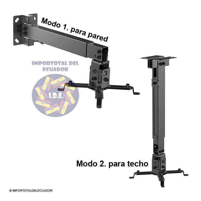 Soporte de pared o techo ''nuevo'' con brazo extendible para proyector / Soporta ''44 libras'' de peso / Brateck Prb 2g