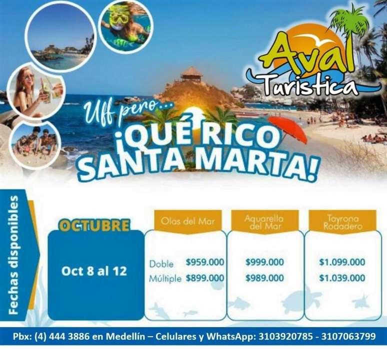 Excursion a SANTA MARTA AEREO del 8 al 12 de octubre desde 899.000 por persona