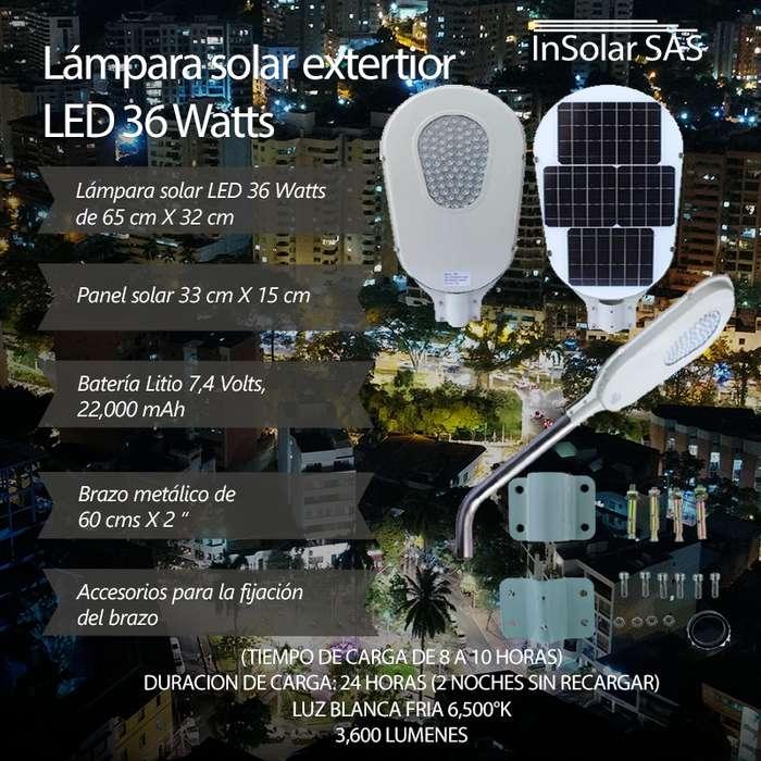 Lámparas solares para exteriores