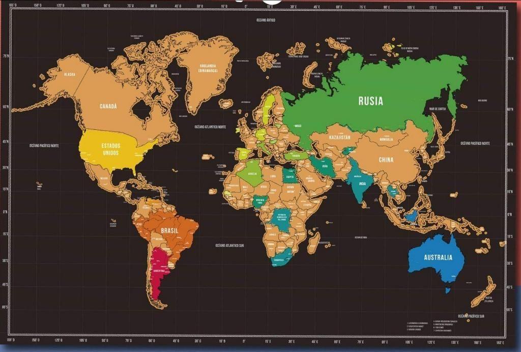 Mapa Mundial para Raspar