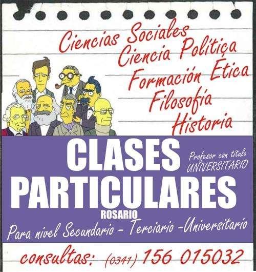 Clases particulares de Ciencias Sociales, Ciencia Política, Filosofía.