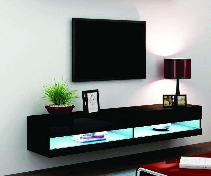 mueble de tv con luz led