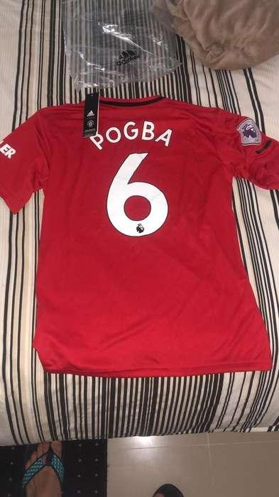 Camiseta Man U Pogba, Pl Badges