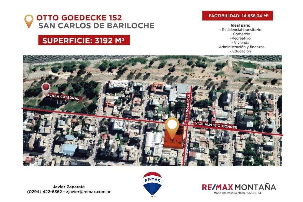 BARILOCHE VENTA INVERSION LOTE CENTRICO DE 3.192m2