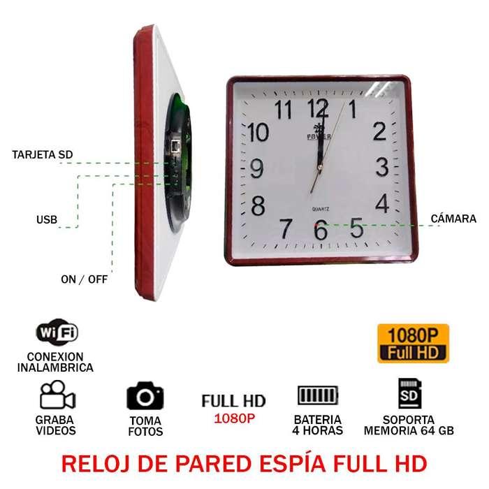 Reloj De Pared Espía Oculto Audio Video Full Hd 1080p Wifi