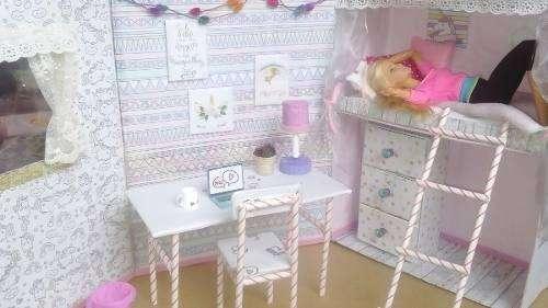 Habitación estilo unicornio para Barbiemanualidad
