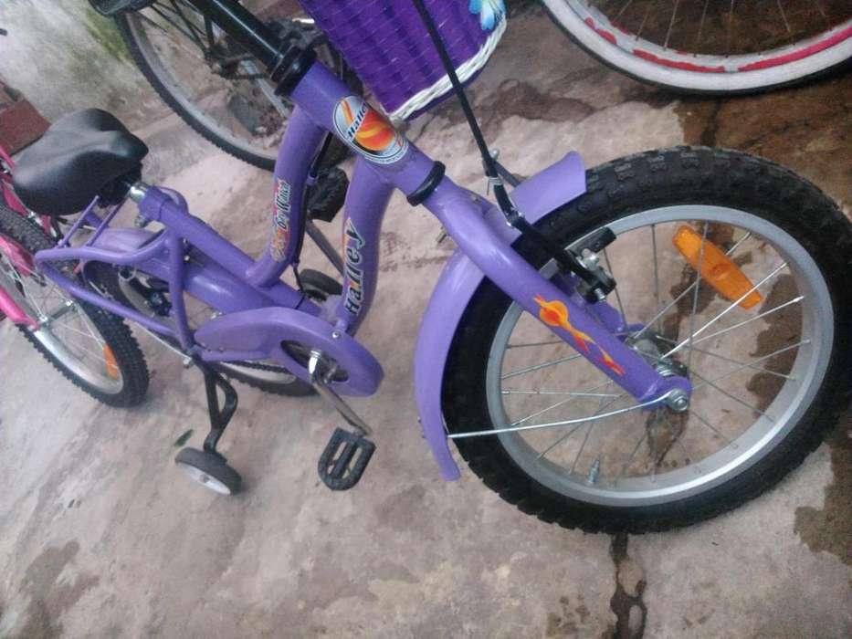 Bicicleta Halley Rodado 16 Nena Niña usada igual a nueva. Descripción detallada en la publicación.