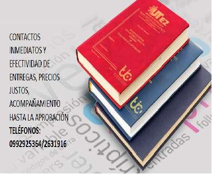 Tesis, Asesorías En Proyectos Monografías Ensayos Trabajos Académicos
