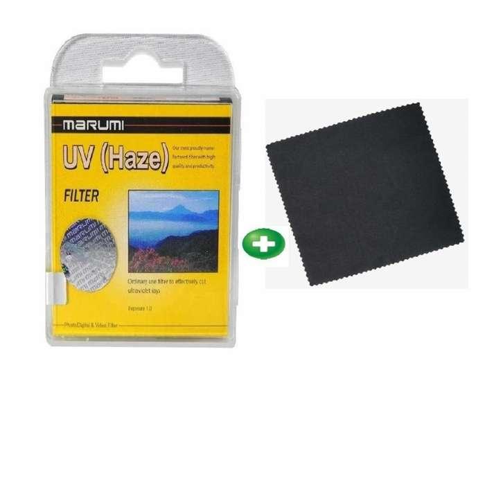 filtro uv haze 52mm marumi paño de limpieza
