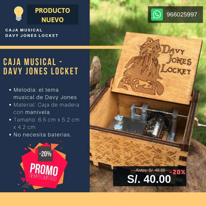 Caja Musical Original De Davy Jones / Piratas Del Caribe