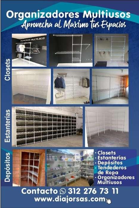 Organizador Closet Armario Gana Espacio Estante Estanteria Manizales Multiusos