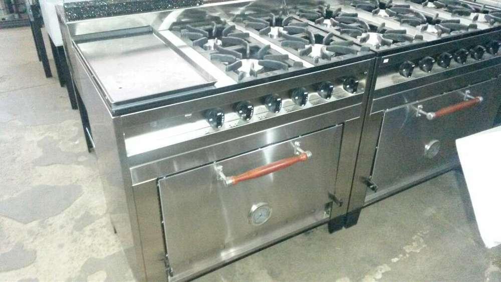 Cocina Industrial Cuatro H Y Placha Nuev