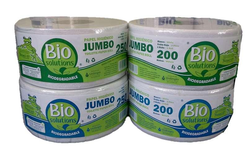 Papel Higiénico Jumbo Biosolutions 200 Y 250 M