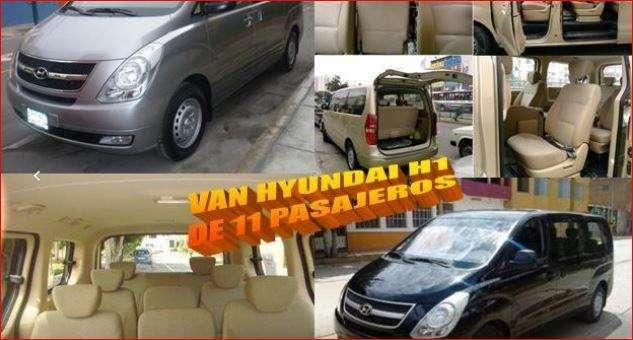 Alquiler de Van H1 Minivan 15 Psj. Coaster Custer Bus Buses Económicos Full day Paseos Turísticos