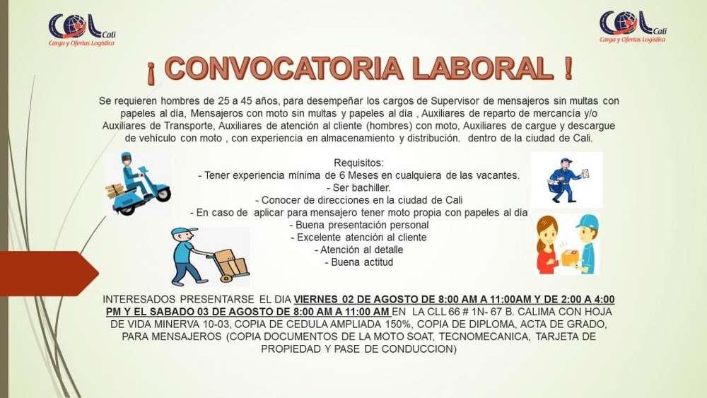 CONVOCATORIA DE EMPLEO CALI/VALLE