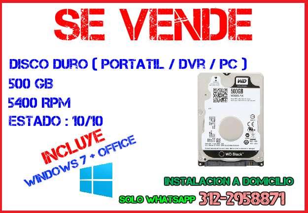 Disco Duro para Portátil / DVR / PC ( Incluye Windows )