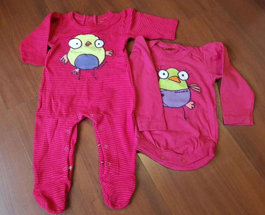 Conjunto bebe. Talle 0 a 3 meses. Pack x 2