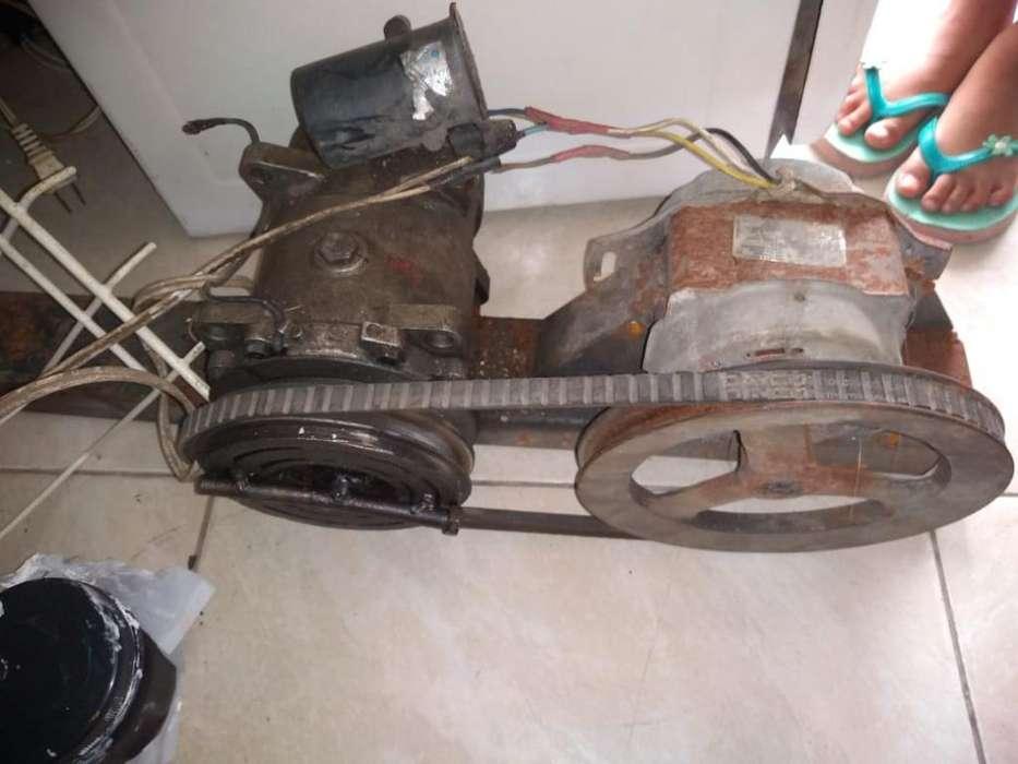 Compresor de Aire Acondicionado Y Motor