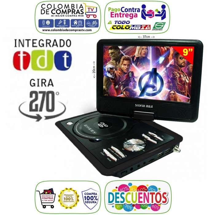 Televisor Con Tdt Dvd Portátil 7, 9 o 10.1 Pulgadas Usb Fm Juegos, Nuevos, Originales, Garantizados.
