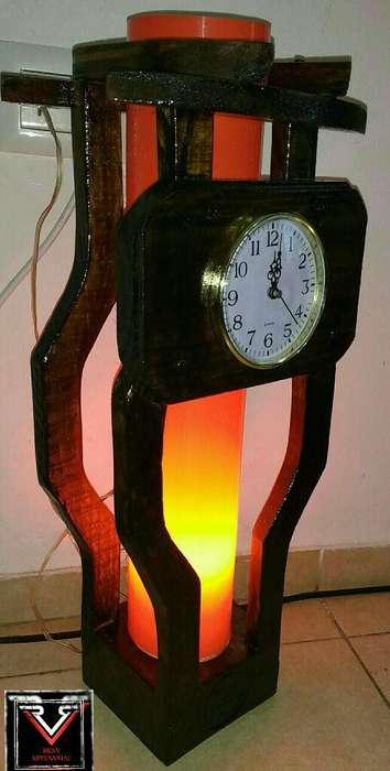 <strong>lamparas</strong> Artesanal Reloj