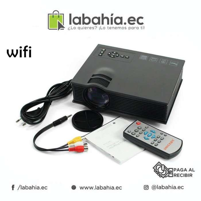 Mini Proyector Wifi Uc46 120 pulgadas 1200 lumenes