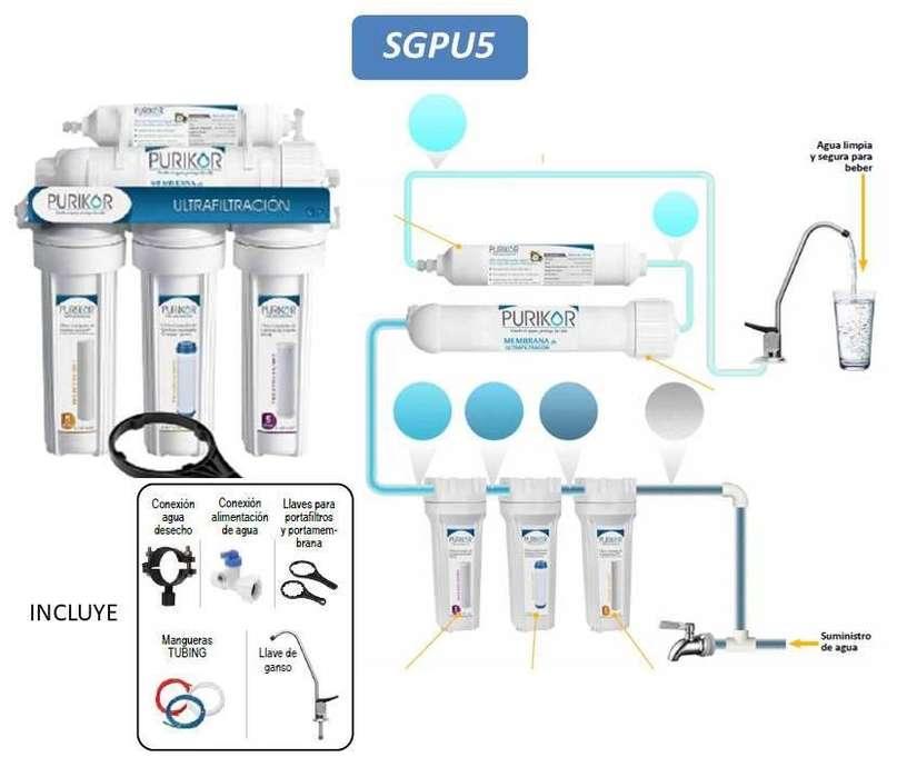 Sistema Purificador De Agua 5 Etapa Filtro De Agua Ultrafiltracion.