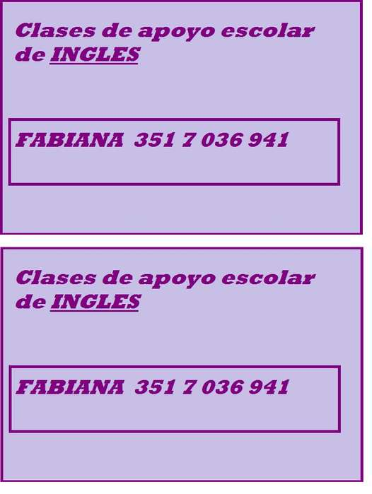INGLES APOYO ESCOLAR