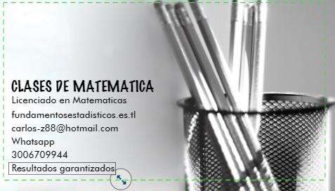OCUPA TIEMPO LIBRE CLASES PERSONALIZADAS DE MATEMATICAS, ALGEBRA, Y TRIGONOMETRIA