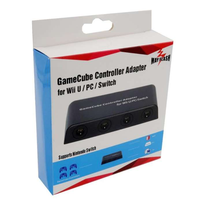 Adaptador de Controles/Mandos GameCube Mayflash para Wii U, PC USB y Switch, 4 puertos